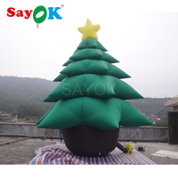 Giant inflatable christmas tree 16.4ft tall, inflatable christmas decorations