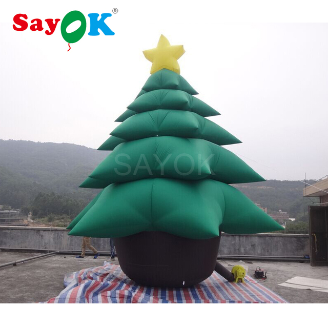 Giant Inflatable Christmas Tree 16.4ft Tall, Inflatable Christmas  Decorations