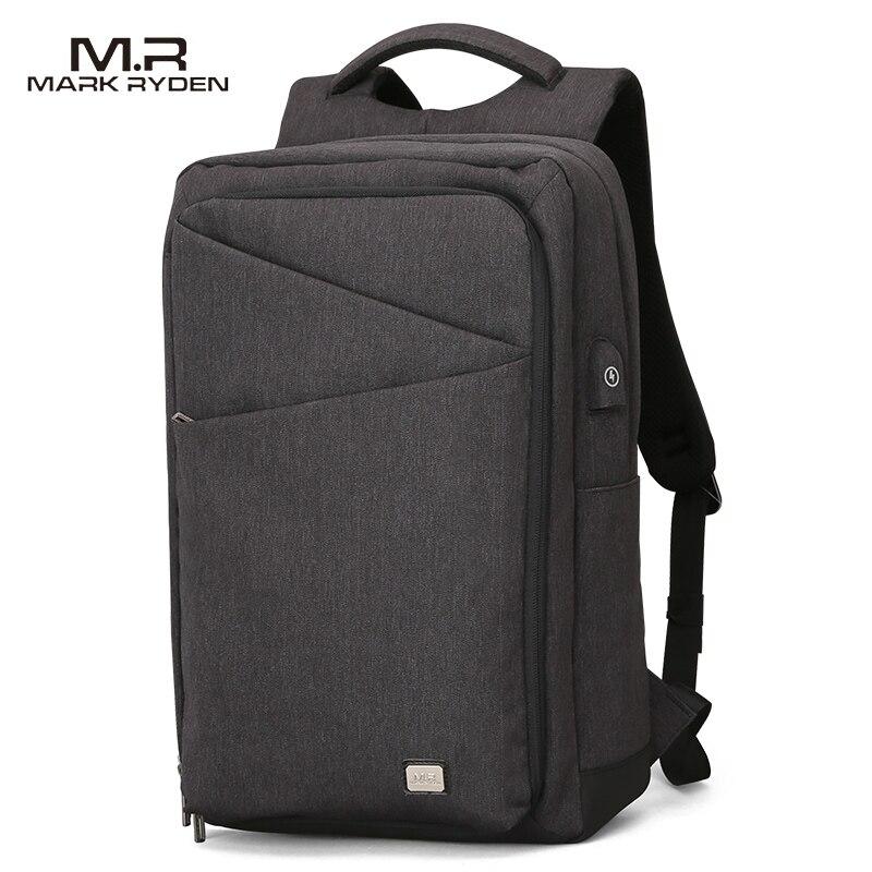 MARKRYDEN New Backpack Men Backpack High Capacity Bag for Travel USB Charging Bag 15.6inch Laptop Backpack for College Students 2017 markryden men backpack student school bag large capacity trip backpack usb charging laptop backpack for14inches 15inches