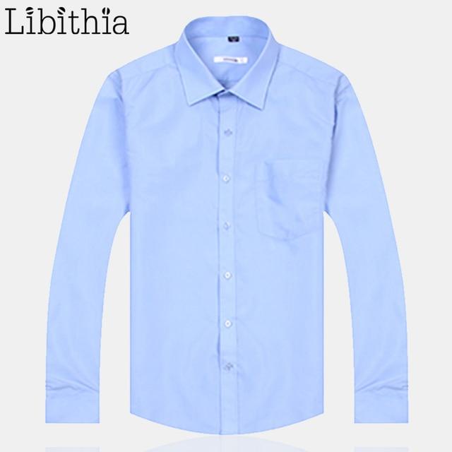 Men Formal Dress Shirts Square Collar Blouses Male Big Size S-5XL Slim Work Shirt Long Sleeve Clothes Pink White K287