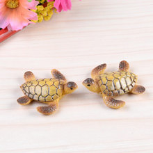 ZOCDOU 1 Piece Sea Turtle Tortoise Turtle Small Statue Home Decoration Accessories Miniature Children Decor Crafts Figurines(China)