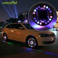Лидер продаж 16LED авто солнечной энергии флэш-колесо шин свет клапана Cap сигнальная лампа воздуха пыльники украшения