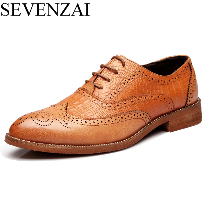 Hot Sale Elegant British Formal Dress Leather Shoes Men Fashion Snake Skin Pointed Dress Office Dress Footwear Brogue Oxford Shoes Men Strong Packing Men's Shoes Shoes