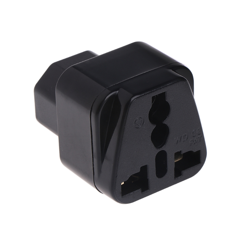 <font><b>IEC</b></font> <font><b>320</b></font> C14 Zu Universelle Weibliche Power Adapter AC Power <font><b>Plug</b></font> Stecker Schwarz image