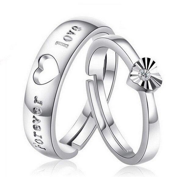 Liebe U-für Immer Neue Cz Hochzeit Ringe Für Frauen Männer Gold-farbe Paar Engagement Ring Schmuck Für Liebhaber Freies Verschiffen