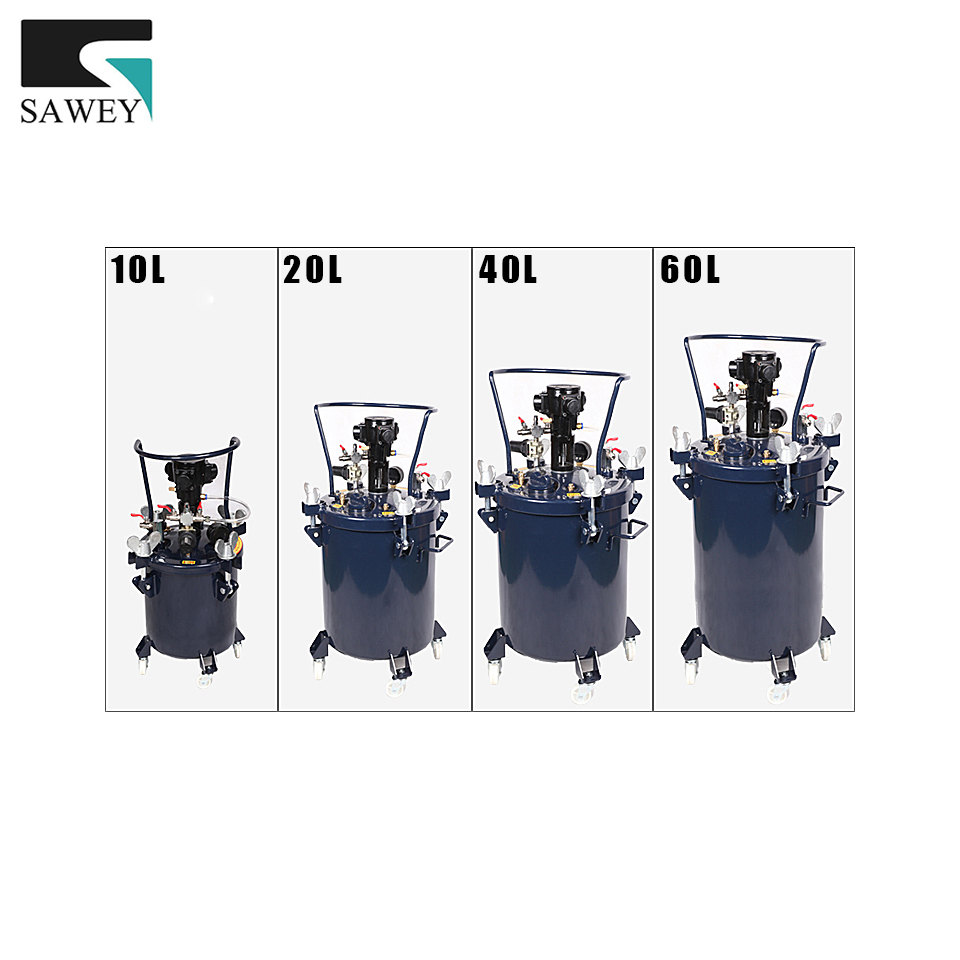 10L/20L/40L/60L Pressure Feed Paint Blender Mixer Tool Automatic Paint Mixing Stir Pressure Pot Tank Barrel Agitator рюкзак thule stir 20l dark forest 3203552