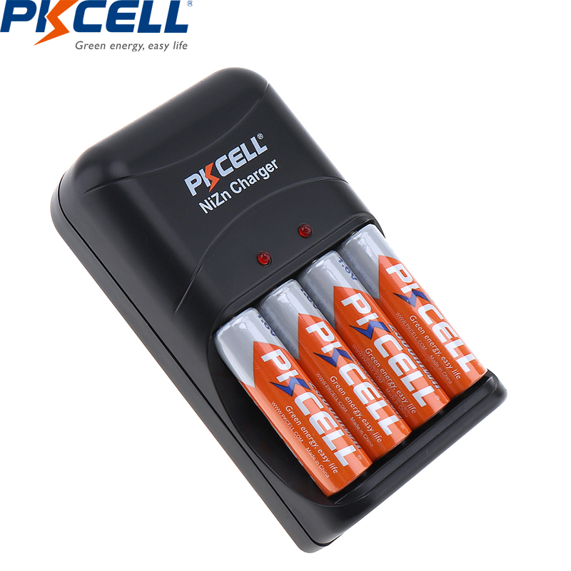 lowest price PKCELL 1 6V NIZN Battery Charger For AA AAA 8186 LED Indicator Fast charging AA AAA batteries NI-ZN charger EU US Plug