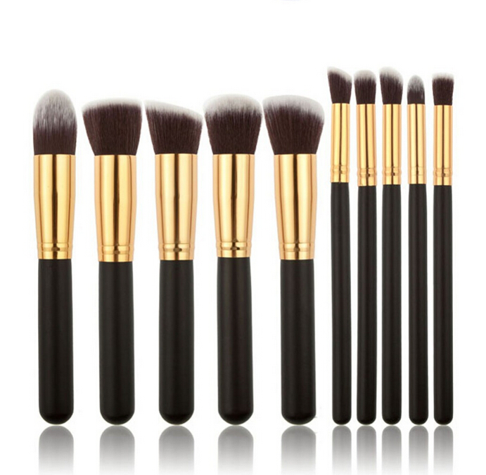 New 10Pcs Professional Cosmetic Makeup Tool Brush Brushes Set Powder Eyeshadow Cosmetic Set BO