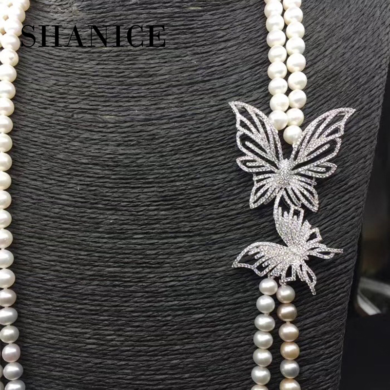 SHANICE Luxury Zircon Crystal Double Butterfly Charms Pendants For Jewelry Making Diy Handmade Fit Necklaces Brooch Jewellery
