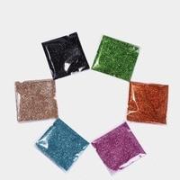 1x TORBA 500g UPRETTEGO Bling Glitter Powder Pył Nail Art Cekin 3D Rainbow Clear Hexagon Kromka DIY Charm Nail Art Decor JCF