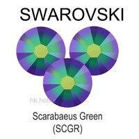 Swarovski Elements Scarabaeus Green SCGR No Hotfix Or Hotfix Iron On Ss5 Ss34 2mm 7mm Crystal