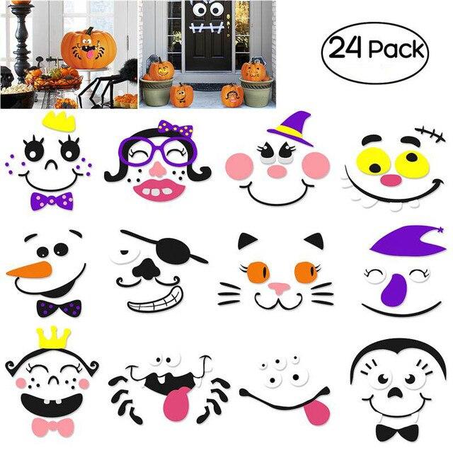 Unomor 2 sets calabaza de Halloween se enfrenta decoración EVA 12 ...