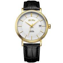 DE Feel Movt Miyota 9015 Мужские автоматические механические часы с фирменным роскошный сапфир стекло и кожаный ремешок Relogio Masculino