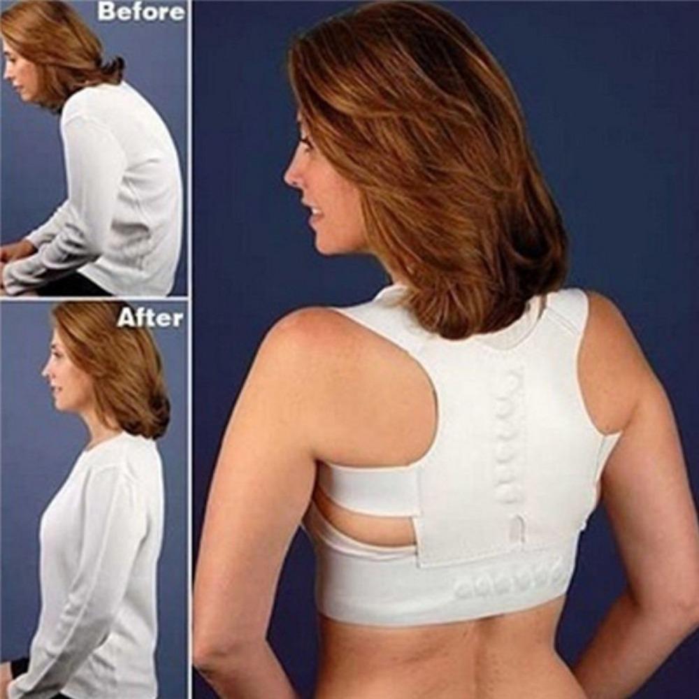 White Back Corrector Men Women Straighten Back Shoulder Posture Support Corrector Brace Belt Orthopaedic Adjustable Health Care