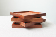 1PC Brown Japanese handmade rattan wooden pallets storage tray for hotel supplies LC 011