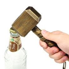 Marvel Avengers 3 Thors Hammer Bottle Opener Mjolnir Keychain Toys Silver Metal Thor Odinson Open Keyring Adults