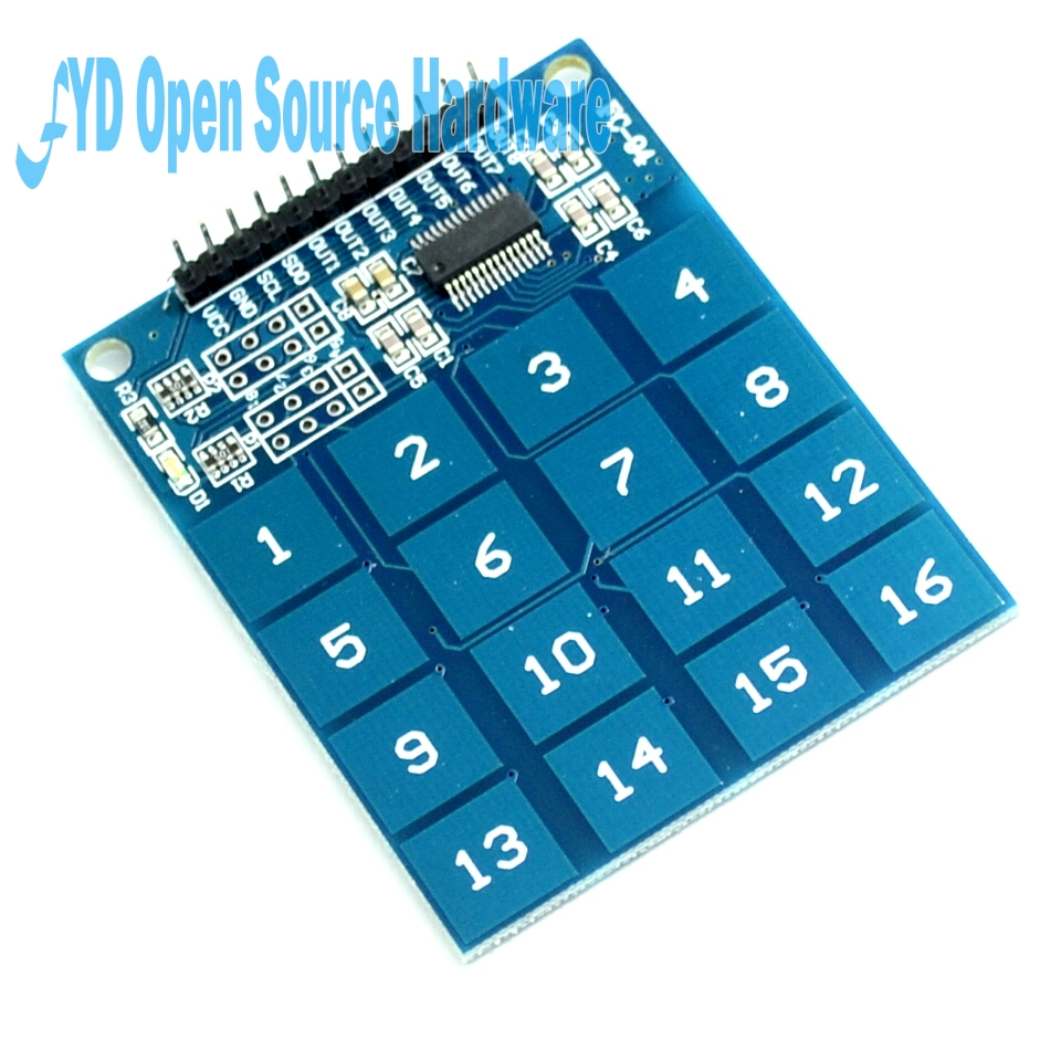 16 Channel TTP229 Digital Capacitive Switch Touch Sensor Module-in ...