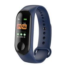 M3C Inteligente Pulseira Coração Pulseira de Fitness Rastreador OLED Taxa de Pulso Monitor De Pressão Arterial Para O Iphone Xiao mi mi banda PK 3