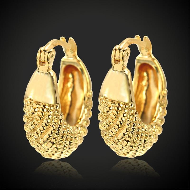 Көтерме Vintage Кіші алтын дөңгелек Сырғалар Тойға арналған алтын түсті доп сырғалар