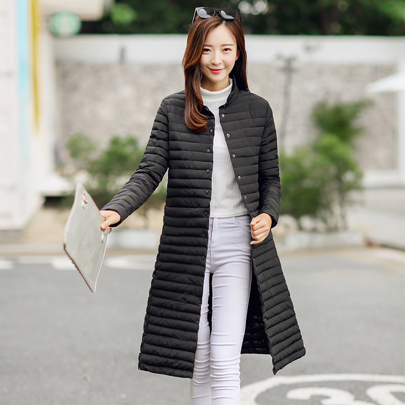 Casual Red Parka Automne Slim Chaud Blue Black D'hiver Solide Long Femme Mince dark Manteau Mode wine Coton light Veste Couleur Femmes Grey Wmwmnu B7q0wZF