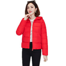 2020 Jacket Women Winter Fashion Warm Thick Solid Short Style Cotton padded Parkas Hooded jacket women plus size S-6XL