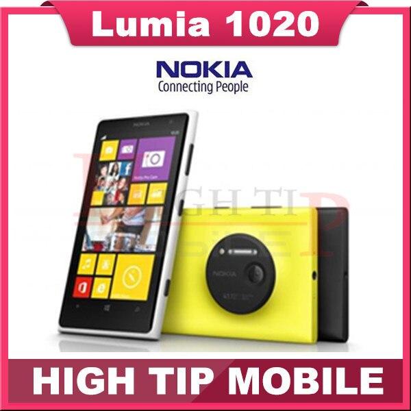 Free gift Nokia Lumia 1020 original mobile phone unlocked 4 5 Touch screen 41 0MP Camra
