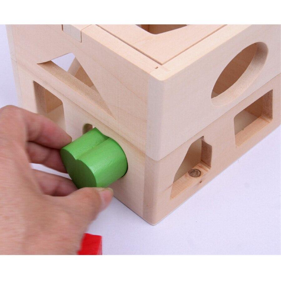 Vauvapuiset lelut Montessori Kids Brinquedos Educativos Lasten - Rakentaminen lelut - Valokuva 4