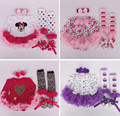 Newborn Bodysuit  Kids Baby Girl Clothes Headband+Romper+Leg Warmers+Shoes Outfit Clothing Set Ropa de Bebe 0-9M