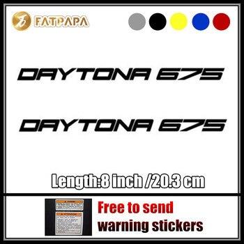 Ruedas de tanque de combustible para motocicleta, carenado para notebook, casco de equipaje, adhesivo para motocicleta, calcomanías para Triumph Daytona 675