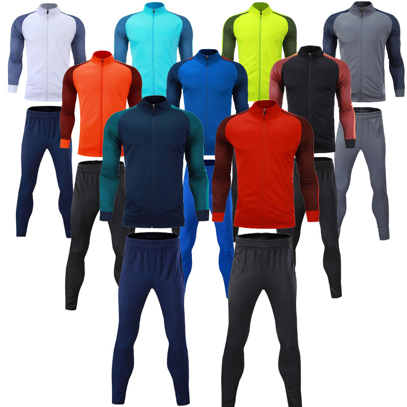 Men autumn winter tracksuits training sets men s running jacket and pants adult sports tracksuits male