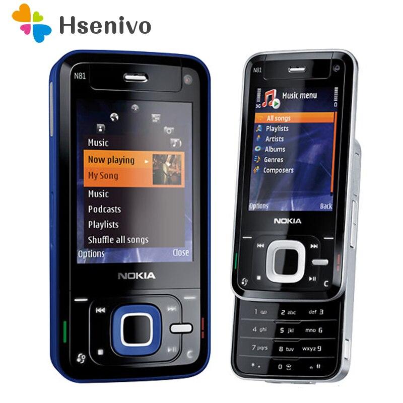 Восстановленное разблокирована оригинальный Nokia N81 GSM 3 г сети Wi-Fi 2MP камера FM 2.4 дюймов мобильный телефон гарантия 1 год бесплатная доставка