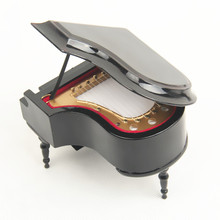 2017Mini Musical Instrument Model Grand Piano Cover Guitar Metronome Piano Guzheng Music Box Music Box