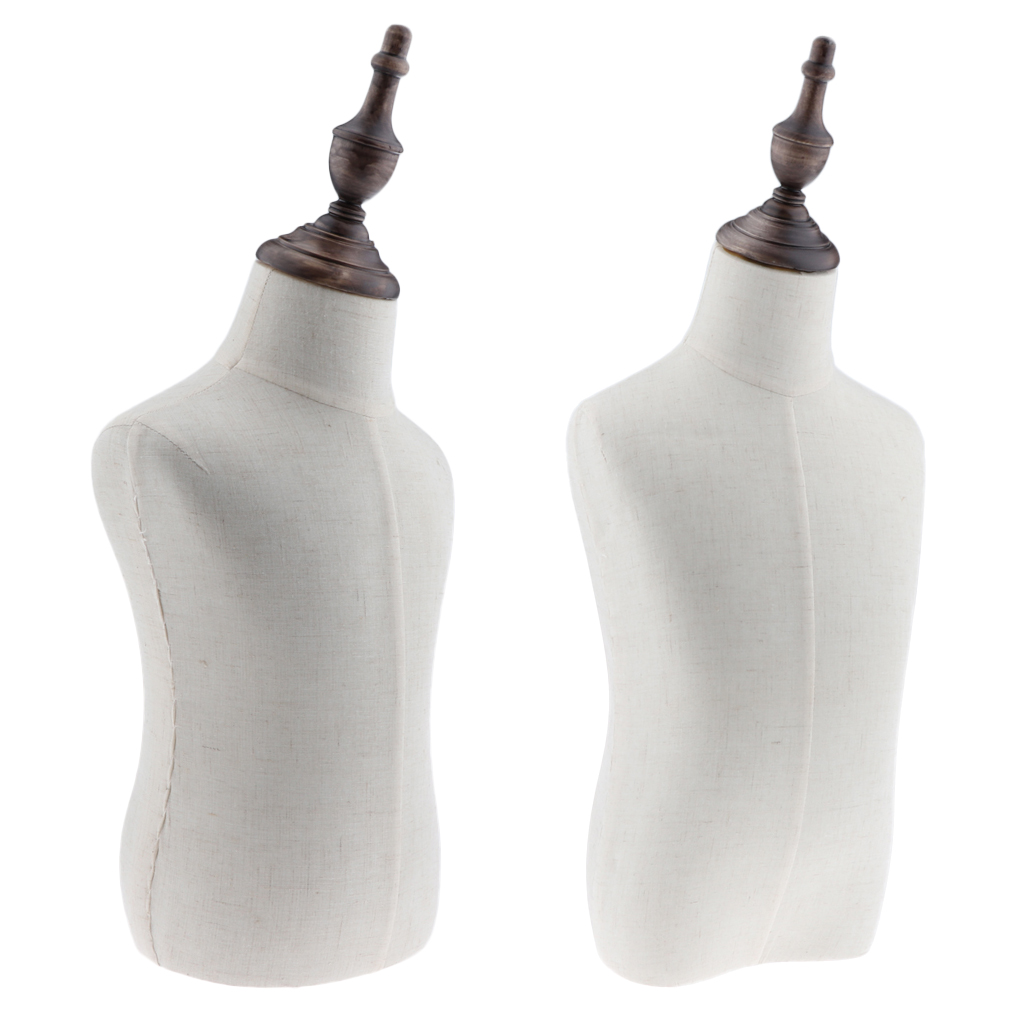 2x Kids Child Mannequin Body Dress Form for Apparel Scarf Window Shop Display, 2 4 Years Old, Linen White-in Mannequins from Home & Garden    1