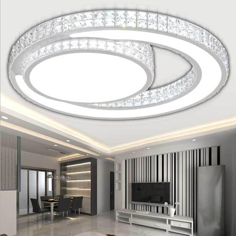 Modern Crystal Ceiling Lighting Lamps LED Ceiling Lampen Bedroom Lighting Fixtures D32, D45, D60CM Luminaria de Led gunsafe bs968 d32 l43