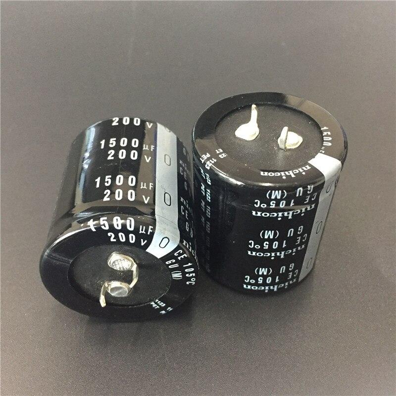 10pcs 1500uF 200V NICHICON GU Series 35x40mm High Quality 200V1500uF Snap-in PSU Aluminum Electrolytic Capacitor