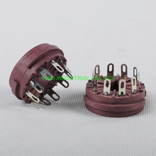 цена 2pc 10Pin Plastic Tube Socket Chassis mount for Guitar Amp Parts Hifi DIY Parts онлайн в 2017 году