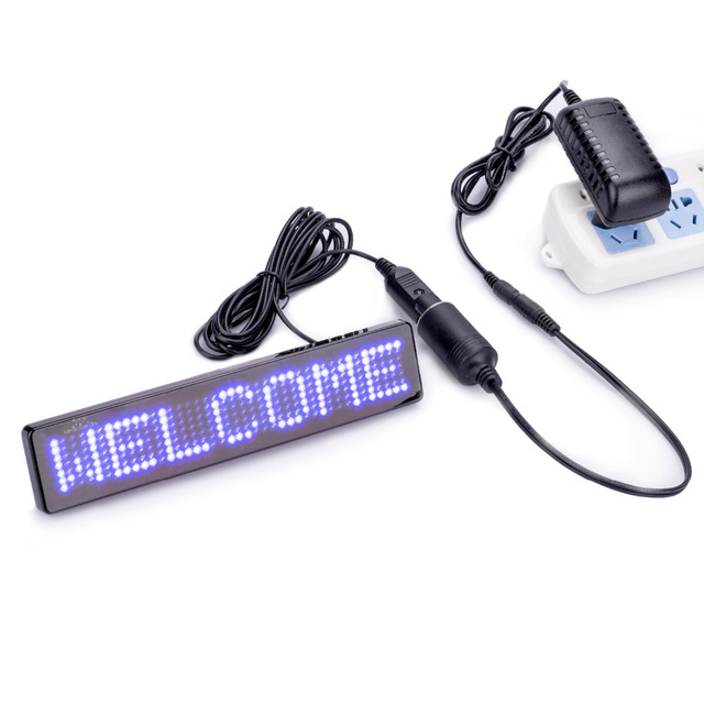 4.36 M (14 ft) wires Store promotional Advertising Scrolling LED Sign English Remote Control LED Car Sign Board Programmable DIY