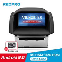 4G RAM Android 9.0 8.0 Car Stereo For Ford Fiesta 2013 2017 Auto Radio DVD Player GPS Navigation Bluetooth 2 Din Wifi Multimedia