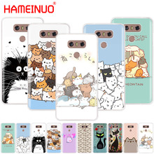 HAMEINUO Милый Забавный чехол с кошками для телефона LG G7 Q6 G6 MINI G5 K10 K4 K8 X POWER 2 V20 V30