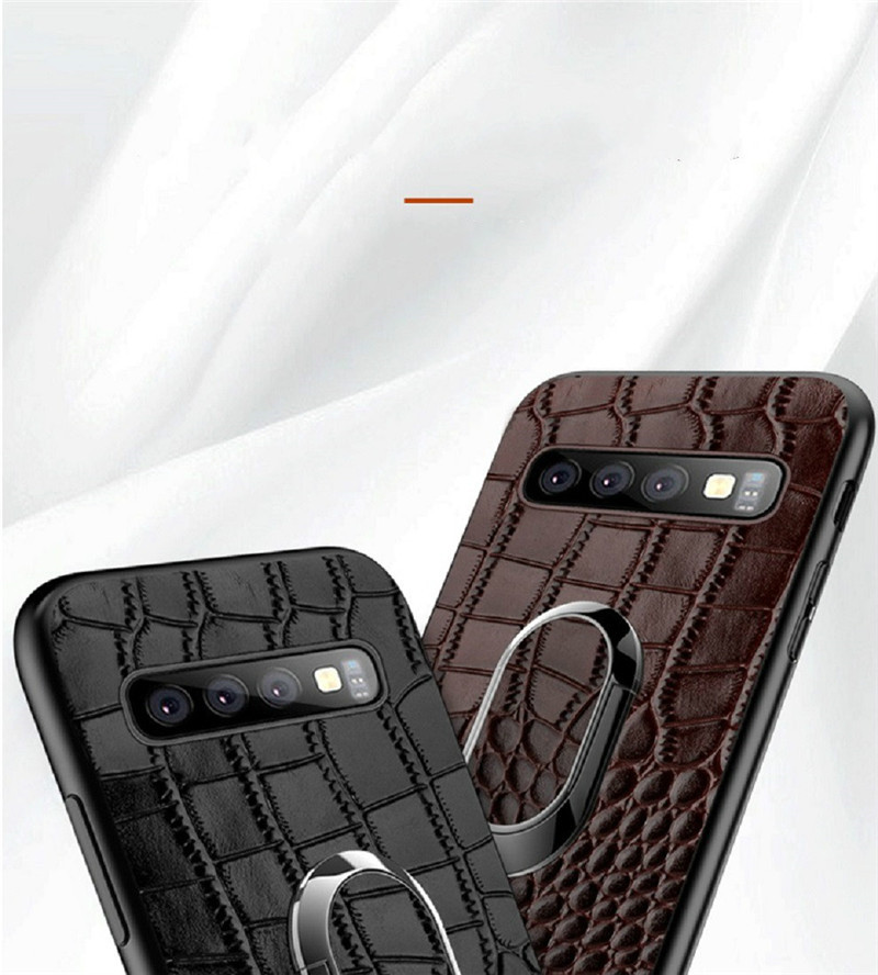 For Samsung Galaxy S10 Case Genuine Leather Armor Car Magnetic Ring Holder Cover For Samsung S10 Lite S10 Plus Case8