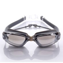 Профессиональные силиконовые водонепроницаемые очки для плавания Анти-туман УФ очки для плавания с ушной раковиной для мужчин и женщин водные спортивные очки