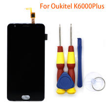 New original Touch Screen Touch Panel For Oukitel K6000 Plus Replacement Parts + Disassemble Tool+3M Adhesive