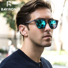 BAVIRON Wood Grain Sunglasses Retro Metal Plate Sun Glasses UV400 Protection Unisex Polarized Sunglasses Fashion Eyewear 0361
