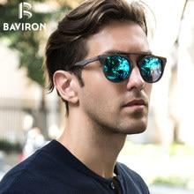 BAVIRON Wood Grain Sunglasses Retro Metal Plate Sun Glasses UV400 Protection Unisex Polarized Sunglasses Fashion Eyewear 0361