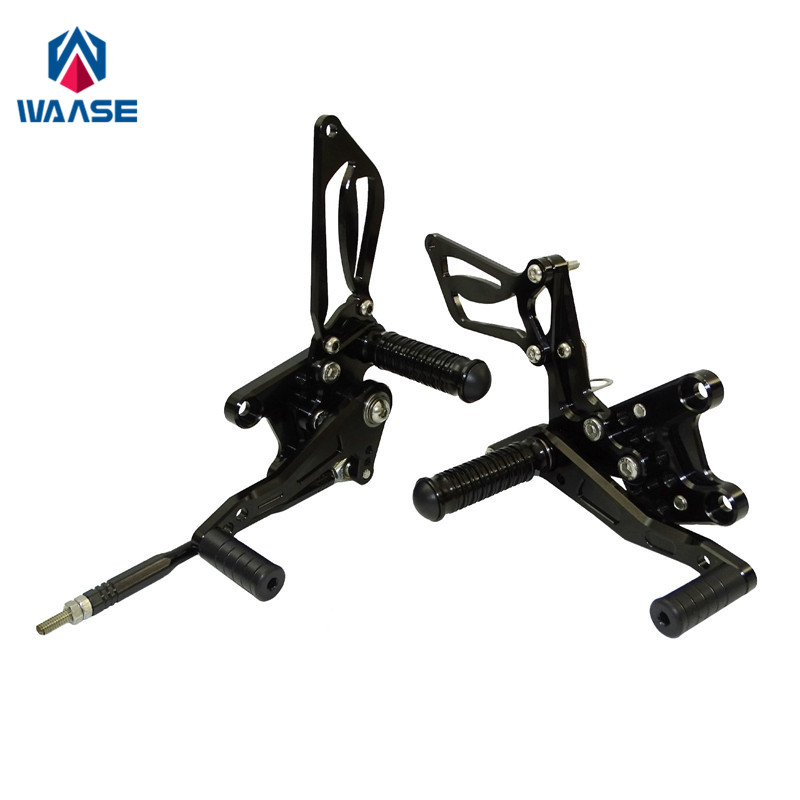 Waase GSXR1000 Motorcycle Adjustable Rider Rear Sets Rearset Footrest Foot Pegs For SUZUKI GSXR 1000 2000 2001 2002 2003 2004
