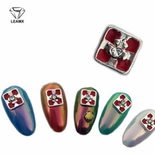 LEAMX 3d Nail Art Christmas New Year Decoration 2018 Rhinestones For Nails Charms Accessoires 10pcs Designers Gift Box