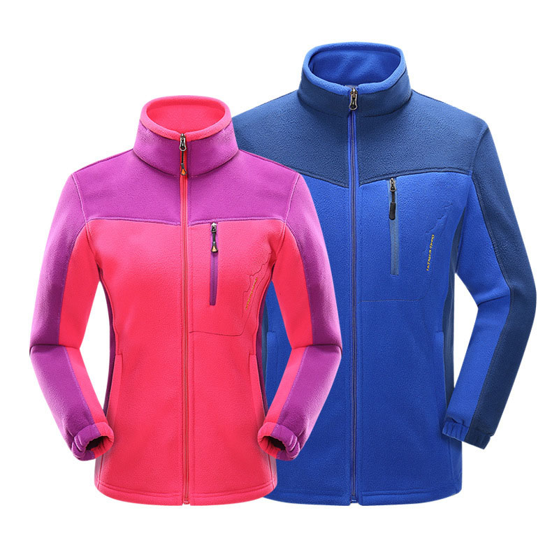 Winter New Outdoor Soft shell Fleece Jacket Men's Women's Windbreaker Thermal Coat Outdoor Sports Skiing Climbing Hiking Jacket