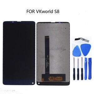 Image 3 - الأصلي ل VKworld S8 جديد شاشة الكريستال السائل محول الأرقام بشاشة تعمل بلمس ل VKworld S8 LCD الهاتف المحمول إصلاح أجزاء + أدوات مجانية