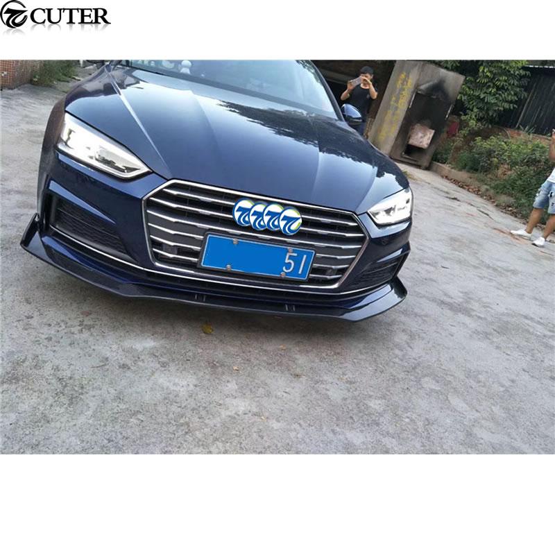 A5 RS Style Carbon Fiber Front Bumper Lip Rear Diffuser