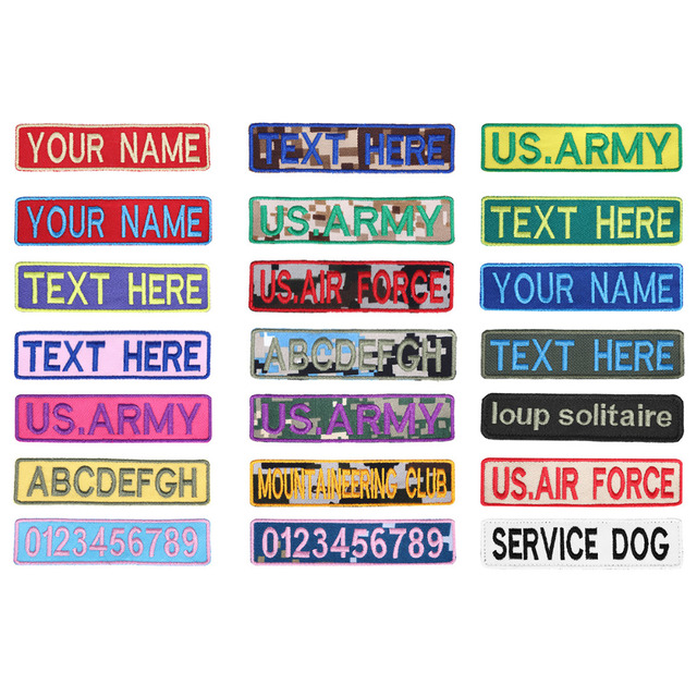 custom embroidery patches name patch 2 pcs customize name tape text
